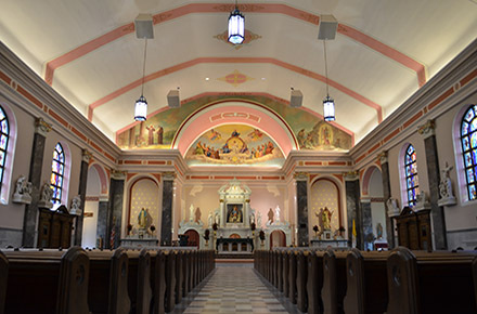 Rossi Construction - Kenosha Holy Rosary of Pompeii Catholic Church Interior